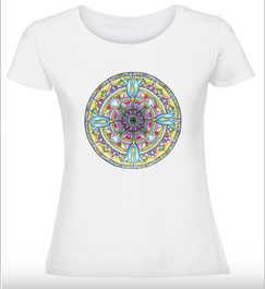Дамска тениска Цветно сърце