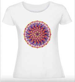 Дамска тениска Мандалово цвете
