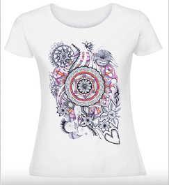 Дамска тениска с Мандала