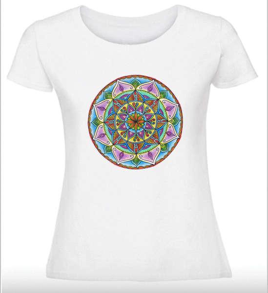 Дамска тениска с Мандала - Хармонични взаимоотношения