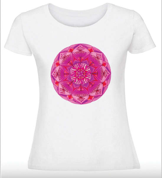 Дамска тениска с Мандала - Мечтите стават реалност - Розова