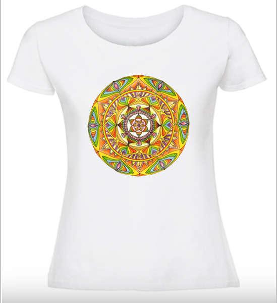 Дамска тениска с Мандала - Шесто чувство