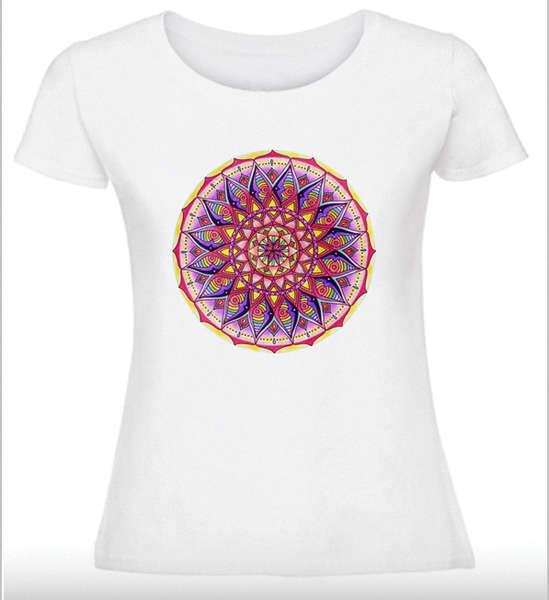 Дамска тениска с Мандала - Мандалово цвете