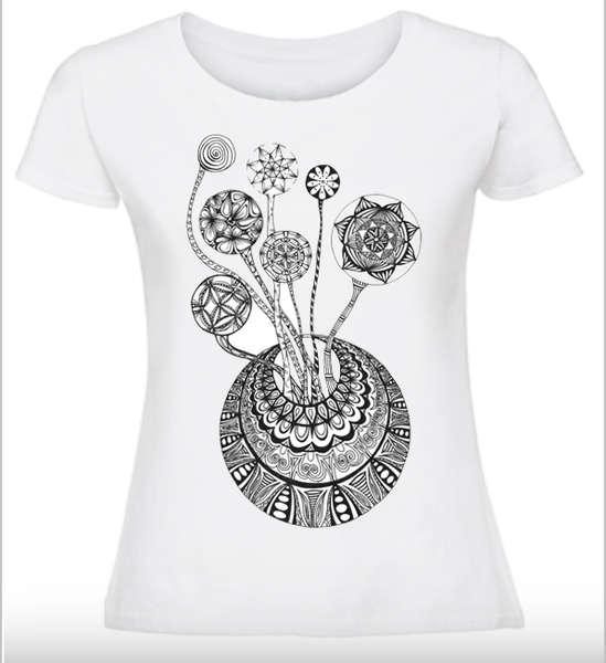 Дамска тениска Цветя