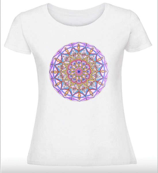 Дамска тениска с Мандала - Жизнена сила